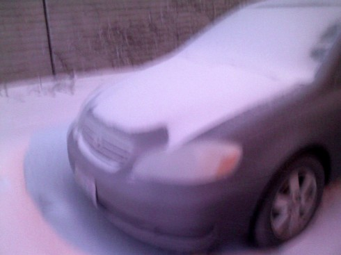 Poor Ice Covered Corolla
